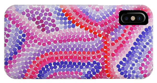 Pointillism - Red To Purple IPhone Case