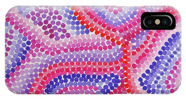 Pointillism - Red To Purple IPhone Case