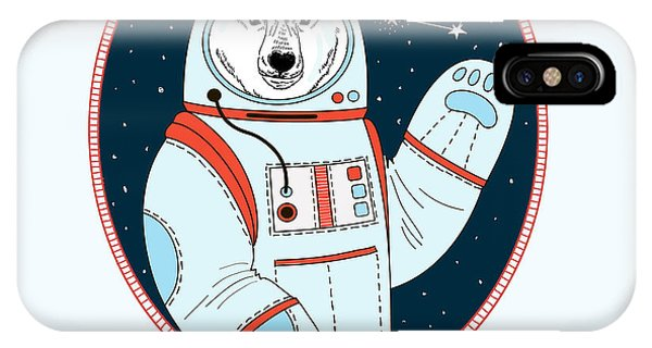 Space iPhone Case - Polar Bear Astronaut In Outer Space by Olga angelloz