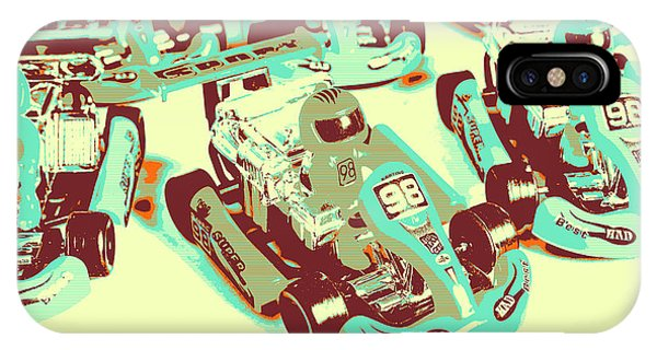 Cart iPhone Case - Poll Position Posterized by Jorgo Photography - Wall Art Gallery