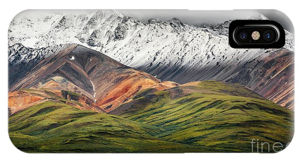Polychrome Mountain, Denali Np, Alaska IPhone Case