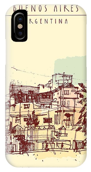 Argentina iPhone X Case - Poor Neghborhood In Buenos Aires by Babayuka