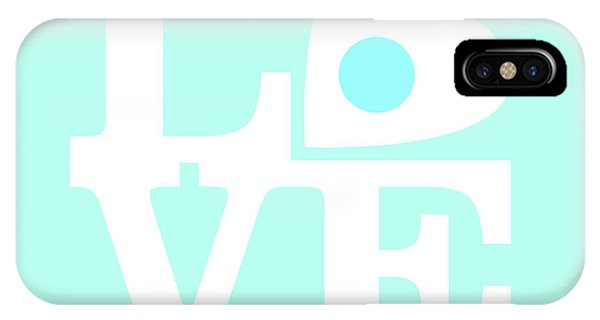 Tribute iPhone Case - Pop Art Love In Blue by Delphimages Photo Creations