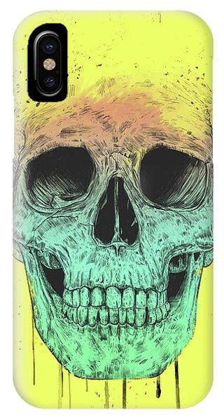 Illustration iPhone Case - Pop Art Skull by Balazs Solti