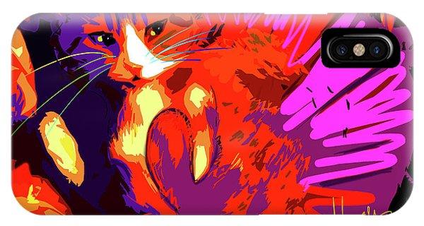 Pop Cat Tiger IPhone Case
