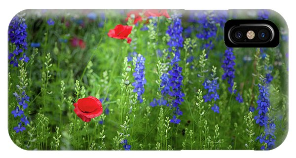 IPhone Case featuring the photograph Poppies And Wildflowers by Mark Duehmig