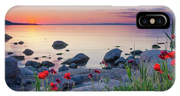 Poppies By The Sea IPhone Case