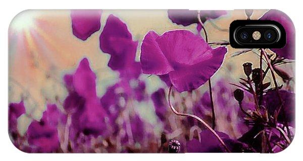 Poppies In Sunlight IPhone Case