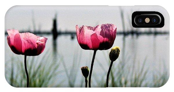 Poppies On Lake Mulwala 2 IPhone Case