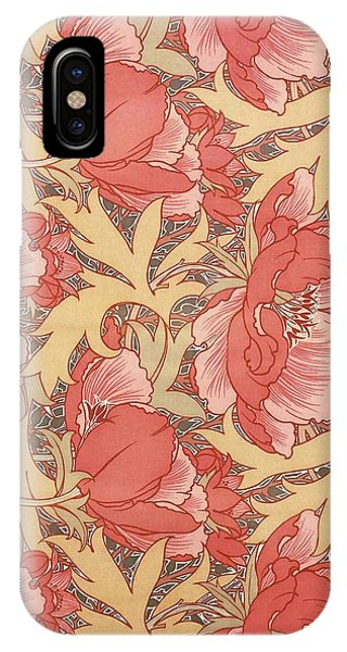 IPhone Case featuring the painting Poppies by William Morris