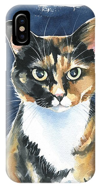 Poppy Calico Cat Painting IPhone Case