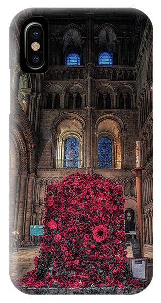 IPhone Case featuring the photograph Poppy Display At Ely Cathedral by James Billings