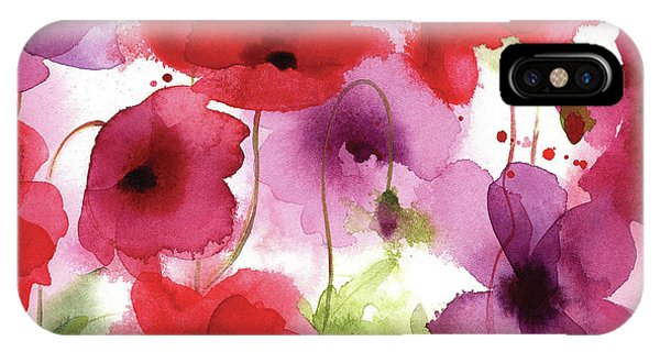 Contemporary Floral iPhone Case - Poppy II by P.s. Art