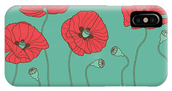 Poppys - Vector Illustration Phone Case by Trendywest
