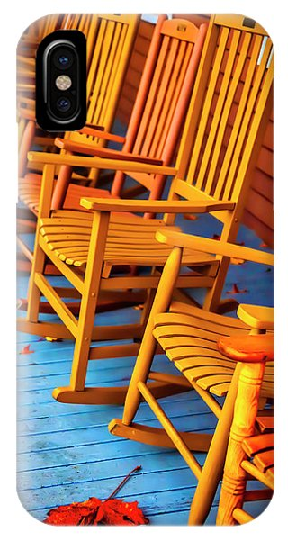Porches iPhone Case - Porch Rocking Chairs by Garry Gay