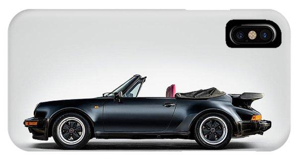 Man Cave iPhone Case - Porsche 911 Cabrio by Douglas Pittman