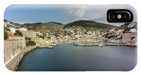 IPhone Case featuring the photograph Port At Hydra Island by Milan Ljubisavljevic