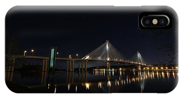 Port Mann Bridge With Blood Moon IPhone Case