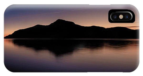 Porteau Cove Panoramic Blue Hour 2 IPhone Case