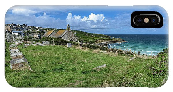 Porthmeor From Barnoon - St Ives Cornwall IPhone Case