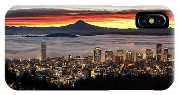 Portland Foggy Sunrise IPhone Case