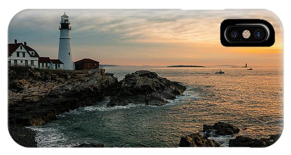 Portland Head Sunrise Final IPhone Case