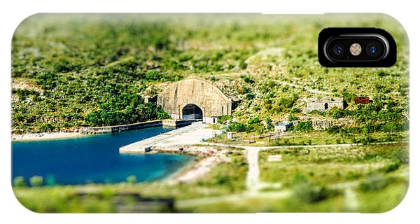 Seashore iPhone Case - Porto Palermo Tunnel In Military Zone by Rosshelen
