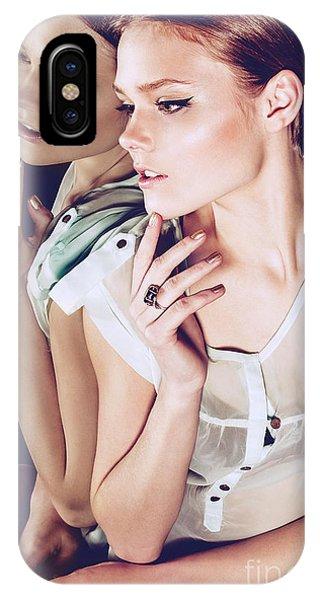 Adult iPhone Case - Portrait Of A Beautiful Pensive Girl In by Yuliya Yafimik