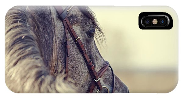 Portrait Of A Sports Stallion In A Phone Case by Elya Vatel