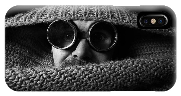 Adult iPhone Case - Portrait Of A Strange Man In A Black by Kichigin