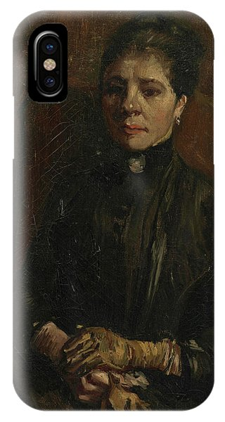 Van Gogh Museum iPhone Case - Portrait Of A Woman - 1 by Vincent Van Gogh