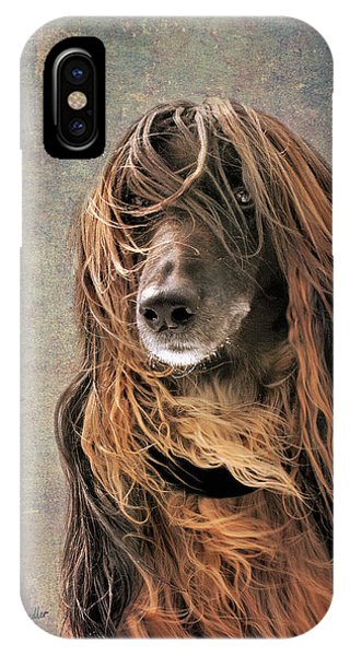Portrait Of An Afghan Hound IPhone Case