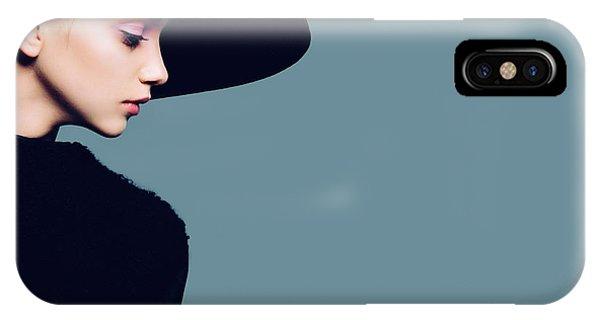 Adult iPhone Case - Portrait Of Beautiful Girl In Hat In by Yuliya Yafimik