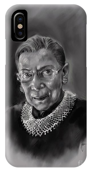 Portrait Of Ruth Bader Ginsburg IPhone Case
