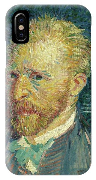 Van Gogh Museum iPhone Case - Portrait Of The Artist, 1887 by Vincent van Gogh