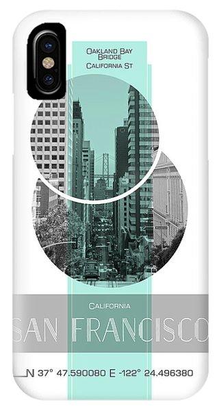 Poster Art San Francisco California Street Phone Case by Melanie Viola