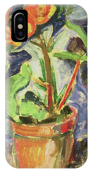 Fauvism iPhone Case - Pot Of Flowers by Alfred Henry Maurer