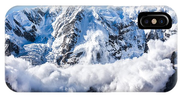 Discovery iPhone Case - Power Of Nature. Real Huge Avalanche by Lysogor Roman