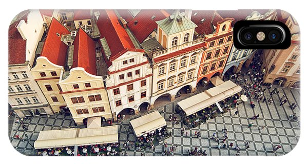 Historic House iPhone Case - Prague Rooftops, Beautiful Aerial View by Igorstevanovic