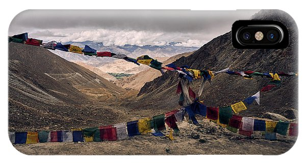 Prayer Flags In The Himalayas IPhone Case