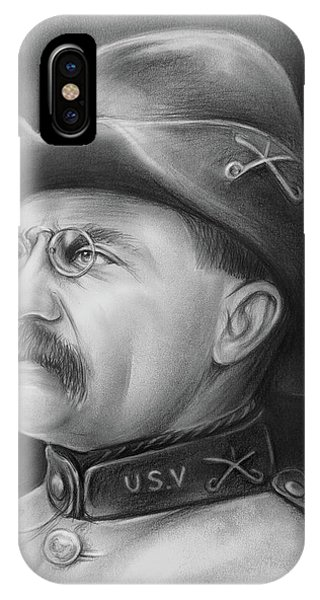 United States Presidents iPhone Case - President Teddy Roosevelt by Greg Joens