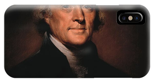 American iPhone Case - President Thomas Jefferson  by War Is Hell Store