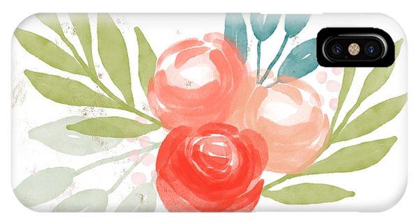 Teal iPhone Case - Pretty Coral Roses - Art By Linda Woods by Linda Woods