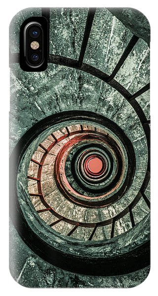 iPhone Case - Pretty Green Spiral Staircase by Jaroslaw Blaminsky