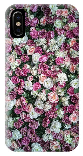 iPhone Case - Pretty Pattern Of Pink And White Roses by Jaroslaw Blaminsky
