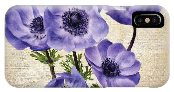 Poppies iPhone Case - Pretty Periwinkle Poppies by Lois Bryan
