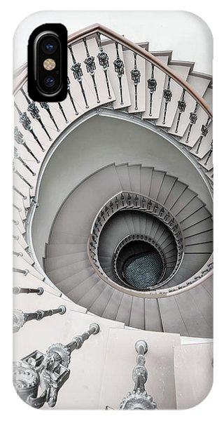 iPhone Case - Pretty White Spiral Staircase by Jaroslaw Blaminsky