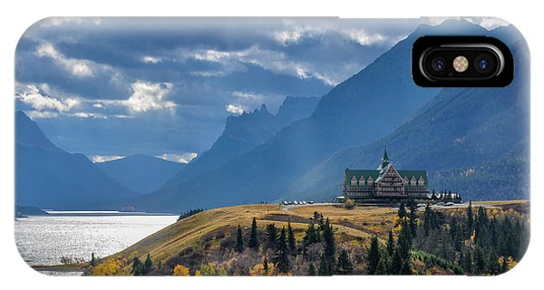 Prince Of Wales Hotel In The International Peace Park IPhone Case