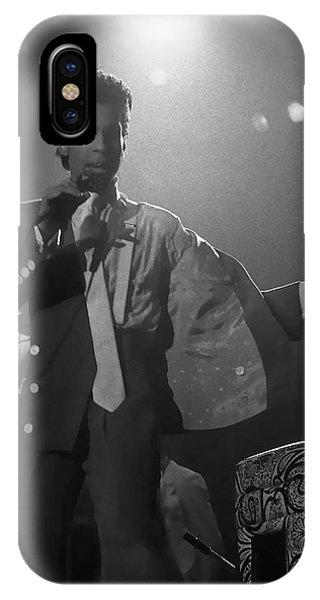 Purple Rain iPhone Case - Prince On Stage Belgium 1986 by Daniel Hagerman