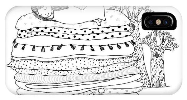 Fairytales iPhone Case - Princess On The Pea. Blankets And by Natasha chetkova